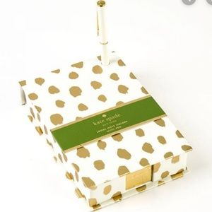 kate spade Gold Flamingo Dot Loose Note Holder Pen